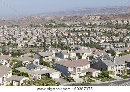 New suburban community in Ventura County's Simi Valley near Los Angeles, California.