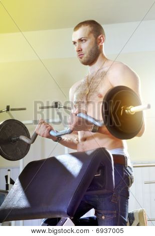 Man In Exercise Room