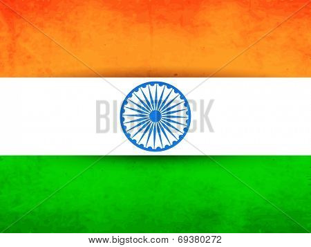 Illustration of Indian National Flag for 15th of August, Indian Independence Day celebrations.