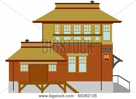 Rural Railroad Depot