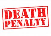 DEATH PENALTY red Rubber Stamp over a white background. poster