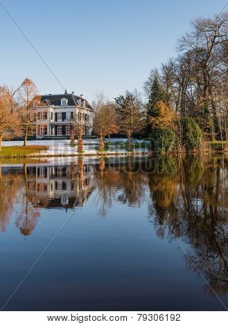 Historic Estate Reflected In The Water