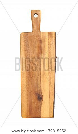 Acacia Wood Trivet With One Edge With Bark Exposed