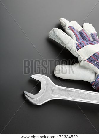Stainless steel wrench and work glove
