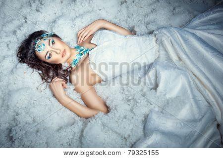 Girl On White Fur.