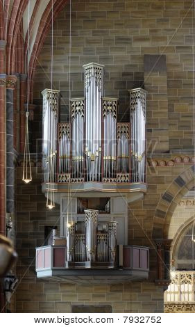 This photograph represent the Cathedral Organ of Bremen Cathedral ( Bremer Dom or St. Petri Dom zu Bremen) poster