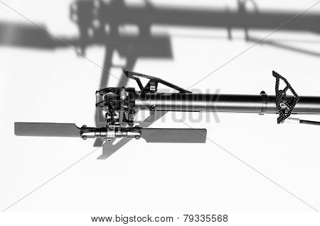 Closeup Of Radio Controlled Helicopter Parts