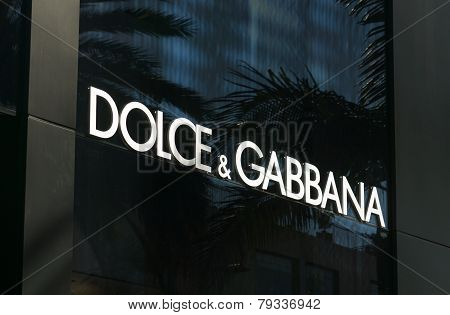 Dolce & Gabbana Retail Store Exterior.