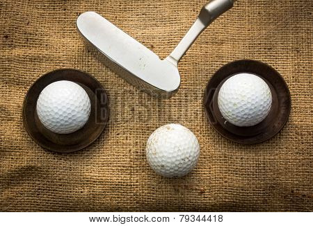Golf Balls And Putter