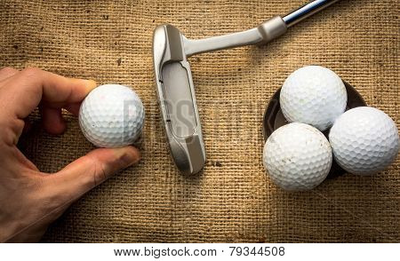 Putter And Golfballs