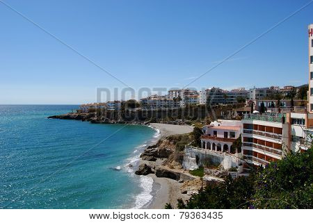Town and beach, Nerja.