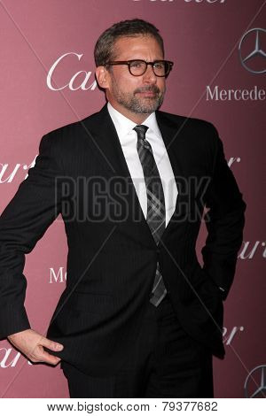 LOS ANGELES - JAN 3:  Steve Carell at the Palm Springs Film Festival Gala at a Convention Center on January 3, 2014 in Palm Springs, CA