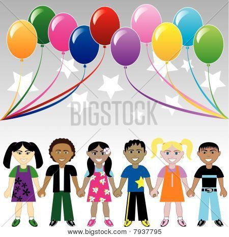 Kids Balloons Stars