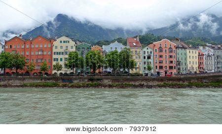 Alps and the Inn River-Innsbruck, Austria