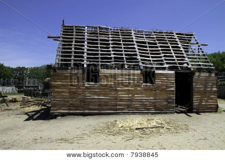 a house in construction