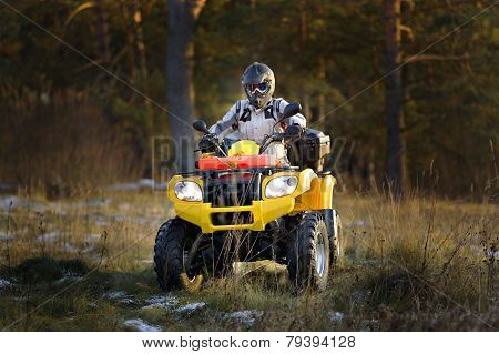 Man Driving Quad Bike