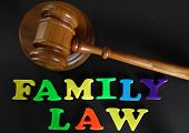 Family Law in play letters with gavel poster