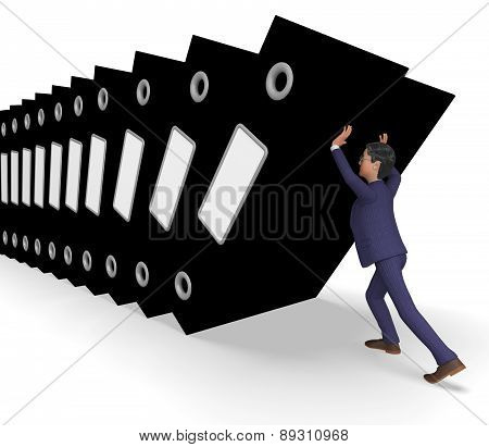 Information Overload Represents Commerce Businessman And Biz