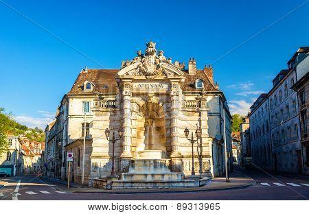 Fontaine De La Place Jean-cornet In Besancon, France