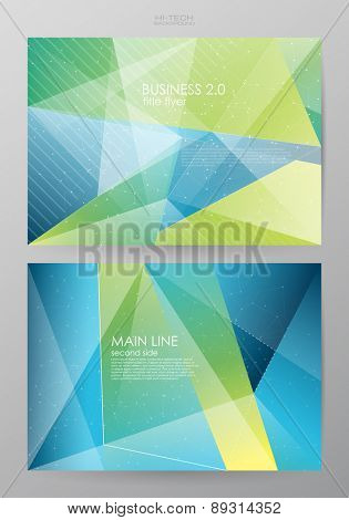 Set horizontal of brochures in modern abstract style. Vector design templates. Abstract figures brochures. Business abstract background. flyer design template with paper