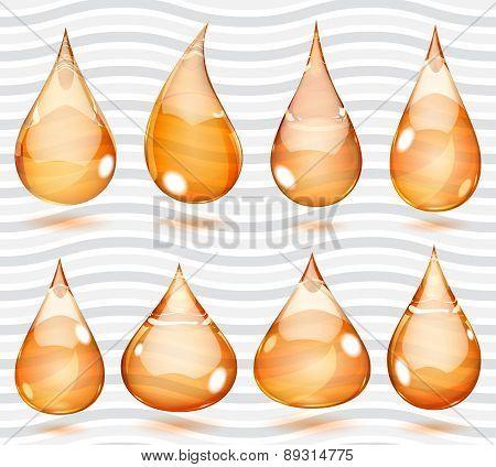 Transparent Orange Drops