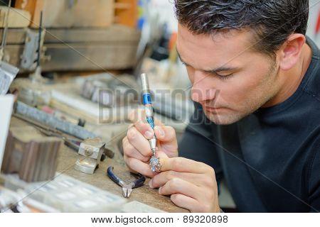 Jeweller hard at work