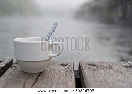 Soft shot of a cup of coffee