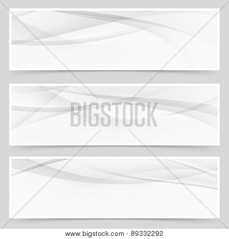Abstract Swoosh Modern Wave Layout Card Set