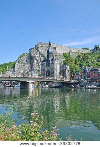 Dinant,Meuse River,belgian Ardennes