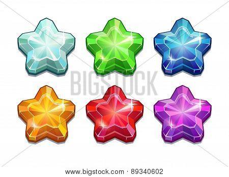 Set Of Crystal Stars