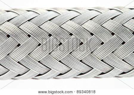 Texture Of A Metal Wire Braided Reinforced Hose