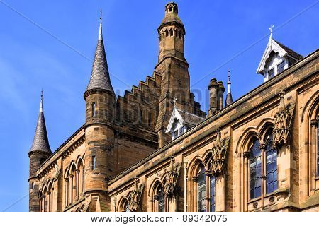 Glasgow University's Towers - A Glasgow Landmark Built In The 1870S In The Gothic Revival Style. Des