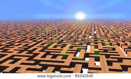Labyrinth at dawn