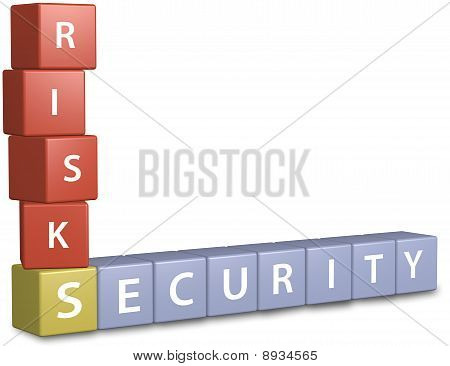 Risk Security Fi;nancial Investment Cube Design