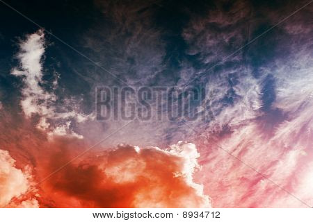 Textured Background With Clouds