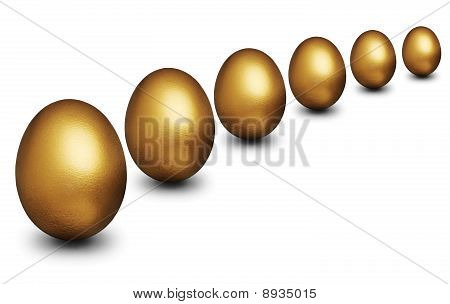 Golden Egg Representing Financial Security