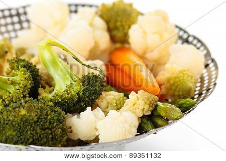 Steamed Vegetables.