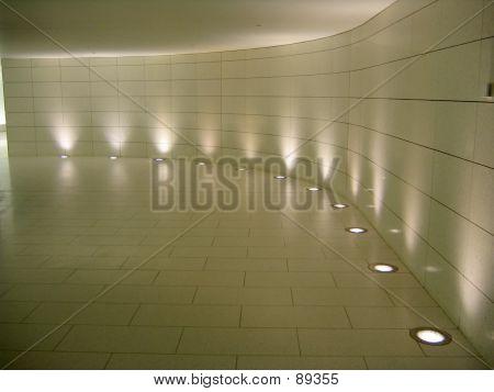 Floor Lights In The Corridor