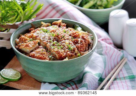 Japanese Rice Bowl Dish Chicken Katsudon