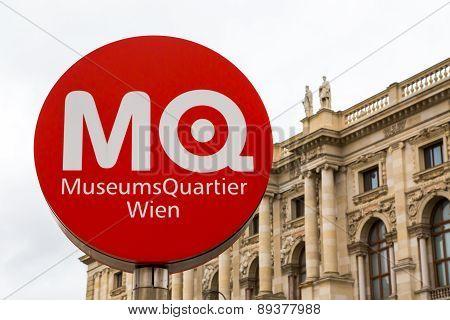 MuseumsQuartier Wien sign