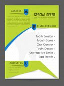 Creative Medical flyer or template with special offer on your first treatment of Dental problems.  poster