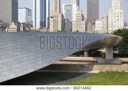 BP walkway in Millenium Park Chicago