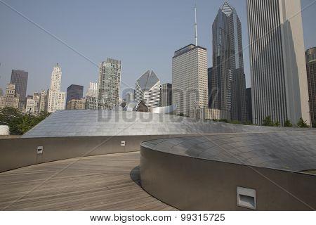 BP walkway in Millennium Park Chicago