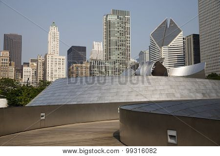 BP bridge in Millennium Park Chicago