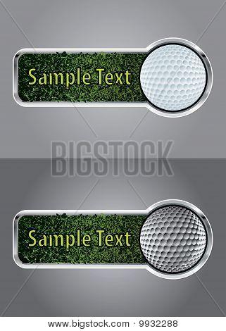 Golf Ball Banner Set 1