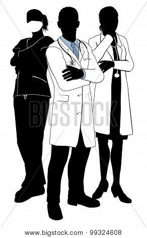 Medical Team Doctor Silhouettes