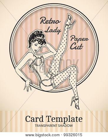 Pin-up Girl Card