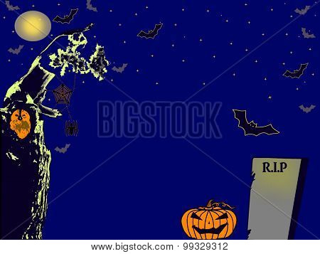 spooky grave yard halloween background