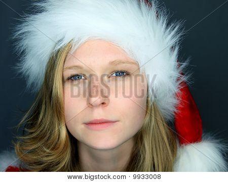 Moody Image Of Miss Santa
