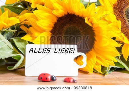 alles liebe - german for all the best